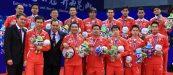 BERPOSE: Tim Piala Thomas 2016 berpose usai gelaran acara. (Foto: badmintonindonesia)